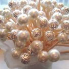 30 Silver Pearl Bead Toothpicks Wedding Christmas Shower Dinner Party Pick Mix