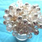 *3 Dozen* Crystal Silver Bead Toothpick Wedding Shower Dinner Party Pick