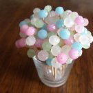 Wedding Toothpicks Shabby Pastel Crystal Picks Shower Dinner Party Food Chic