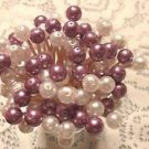 35 Plum White Purple Pearl Bead Halloween Toothpicks Wedding Dinner Party Picks