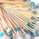 Pearl Crystal Blue Skewers Wedding Dessert Toothpick Party Food Pick Dinner