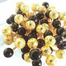 Graduation Party Gold Black Onyx Pearl Beads Toothpicks Wedding Dinner Picks