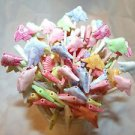 Fish Toothpicks Animal Kids Party Food Appetizer Picks Cupcakes Pink Red