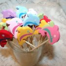 Dolphin Fish Beach Wedding Toothpicks Dinner Party Appetizer Picks Cupcakes Luau