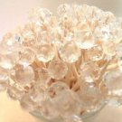 35 WEDDING TOOTHPICKS GLASS Crystal Mothers Day Shower Dinner Party Picks Beads