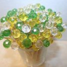 35 Crystal Yellow Green Toothpick Wedding Mix Shower Dinner Party Food Picks