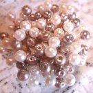 Lavender Silver Toothpicks Pearl Beads Wedding Party Cocktail Food Skewers