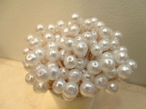 White Pearl Toothpicks Wedding Party Picks Beads Cupcakes Christmas Shower