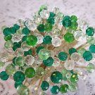 35 Green Crystal Toothpicks Bead Wedding Party Food Picks Cocktail Skewer