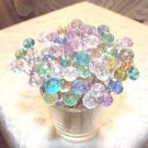 Pastel Crystal Toothpicks Wedding Dinner Food Picks Party Pink Aqua Mothers Day