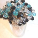 Crystal Turquoise Black Silver Wedding Toothpicks Party Food Picks