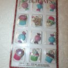Resin Christmas Mini Ornaments Feather Tree Candy Pink Cupcakes Cakes Gift Tags