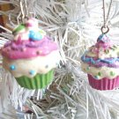 Mini Cupcakes Resin Christmas Ornaments Gift Tags Feather Tree Birthday Cakes