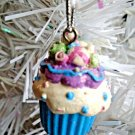 Mini Cupcake Resin Christmas Ornament Feather Tree Blue Easter Cake Candy Shabby