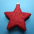 Red Glitter Star Ornaments Tree Patriotic Fourth of July 4TH Flag Color