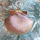 Metal Scallop Seashell Gold Christmas Ornament Tree Coastal Sea Shell Beach