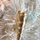 Metal Seashell Gold Christmas Ornament Tree Spiral Coastal Sea Shell Beach