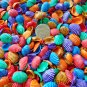 50 Mini Dyed Seashells Arc Clam Shells Crafts Red Blue Green Orange Purple
