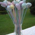 10 Pastel Seashells Skewers Toothpicks Picks Wedding Shabby Shells Skewer Beach