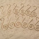 20 GOLD Hangers Hooks Christmas Tree Ornaments Scroll Fancy Decorative