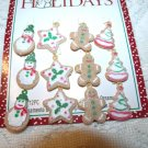 MINI Gingerbread Ornaments Tree Crafts Christmas Miniature Dollhouse  Snowman