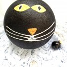 Very Large Halloween Black Glitter Cat Spooky Ornament Ball Tree Decorations