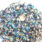 4oz MINI Mix Turquoise Dye Blue Beige Crushed Seashells Crafts Shell Vase Filler