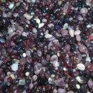 4oz Mini Mix Purple Burgundy Glass Pebbles Crafts Sea Aquarium Stone Jewels Gem