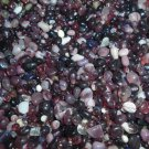5oz Mini Mix Purple Burgundy Glass Pebbles Crafts Sea Aquarium Stone Jewels Gem