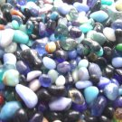 4 oz Blue Glass Mini Pebbles Crafts Vase Filler Stones Jewels Gem Sea Beach Mix