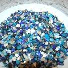 Blue Ivory Turquoise Crushed Seashells Mosaics Vase Filler Shells Beach Crafts