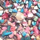 3oz. Black Ivory Blue Turquoise Pink Crushed Seashells Crafts Vase Filler Shell