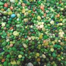 3oz Mini Green Emerald Mix Glass Pebbles Crafts Sea Aquarium Stone Jewels Gem