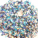 5oz MINI Mix Turquoise Blue Beige Crushed Seashells Crafts Shells Vase Filler