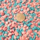 Turquoise Blue Pink Pebbles Mini Moon Stones Crafts Vase Filler Fairy Garden