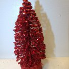 5in. Christmas Red Tree Bottle Brush July 4th Independence Day Crystal Glitter