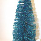9 in. Flocked Turquoise Blue Tree Bottle Brush Christmas Shabby Glitter