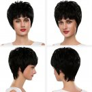 EMMOR Stylish Full Bangs Short Straight Capless Human Hair Wigs High Quality