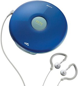 Sony Psyc CD Walkman Portable Compact Disc Player With Tuner - Blue Finish - DFJ040PSBLU