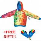 Volunteers Paralympic Games sweatshirt hoodie jacket Sochi 2014 S M FREE GLOVES