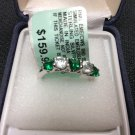 CLEARANCE!!!!!!!Emerald/CWS Ring RND size 7