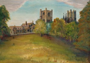 Ely Cathedral -oil on canvas