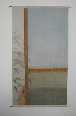 Contemporary landscape wall hanging
