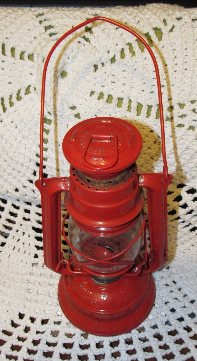 Vintage Meva 864 Czech Republic Oil / Kerosene Lamp Railroad