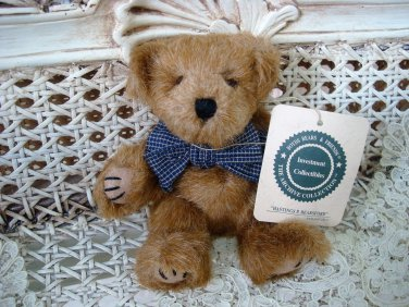 "BOYDS HASTINGS P BEARSFORD 6"" TALL NUTMEG BEAR WITH BOW ***NEW STORE STOCK**"
