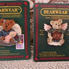 BOYDS BEARWEAR SET OF 2 RETIRED PINS CHARITY ANGELHUG & ANGELIQUE **NEW***