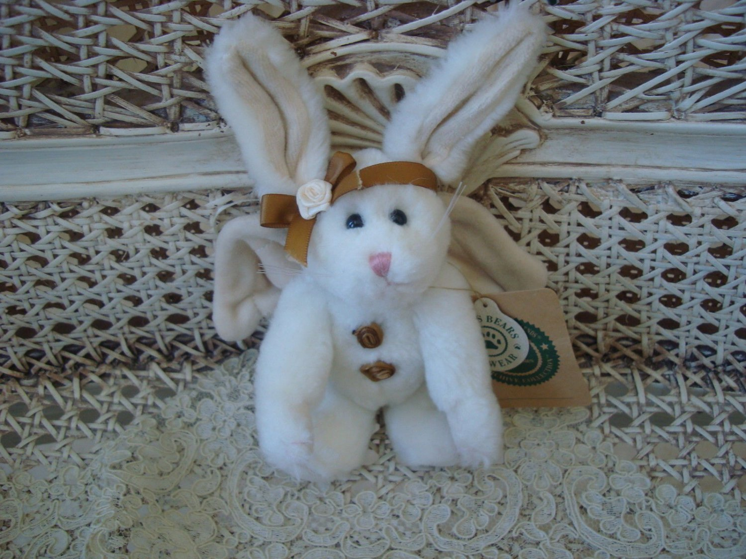 BOYDS STARDUST GOODSPEED WHITE ANGEL BUNNY ORNAMENT EASTER **NEW STORE STOCK***