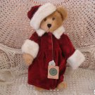 "BOYDS ALEXIS RETIRED 16"" TALL BEAR WITH BURGUNDY COAT & HAT WITH FUR TRIM *NEW*"