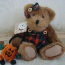 "BOYDS PATSIE PUNKLEY 10"" TALL BEAR PUMPKIN BAG HALLOWEEN  *NEW STORE STOCK*"