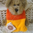 "BOYDS CANDY B CORN 6""BEAR DRESSED AS A CANDY CORN HALLOWEEN **NEW STORE STOCK**"